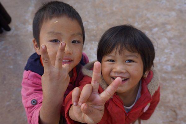 Des enfants de Taunggyi