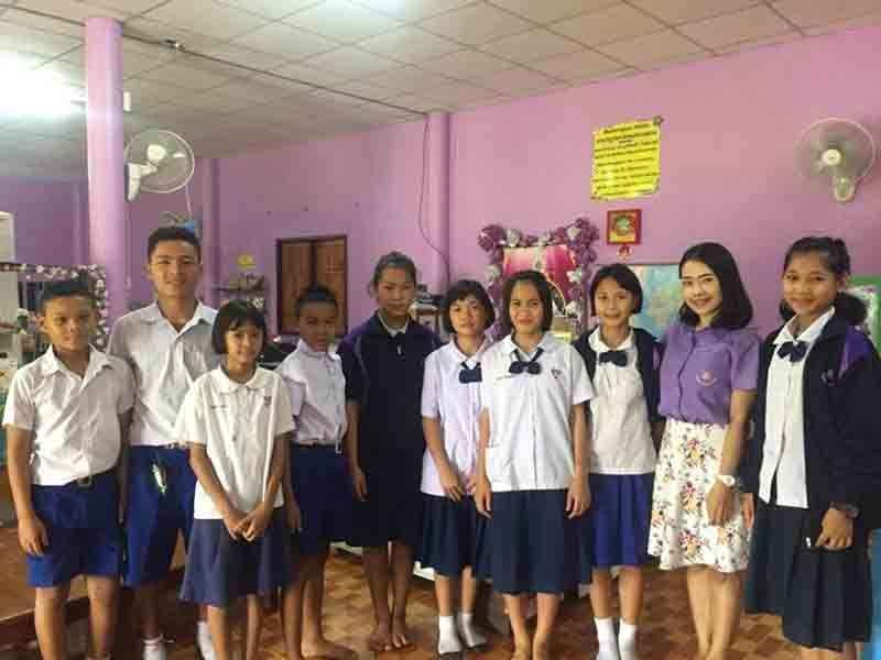 Des élèves de l'école de Sop Moei ©Enfants du Mékong