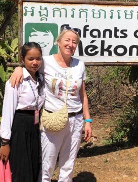 Sophie et sa filleule, enfin réunies ! ©Enfants du Mékong