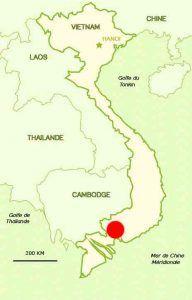 Pho Cap se situe au Nord Est d'Ho Chi Minh