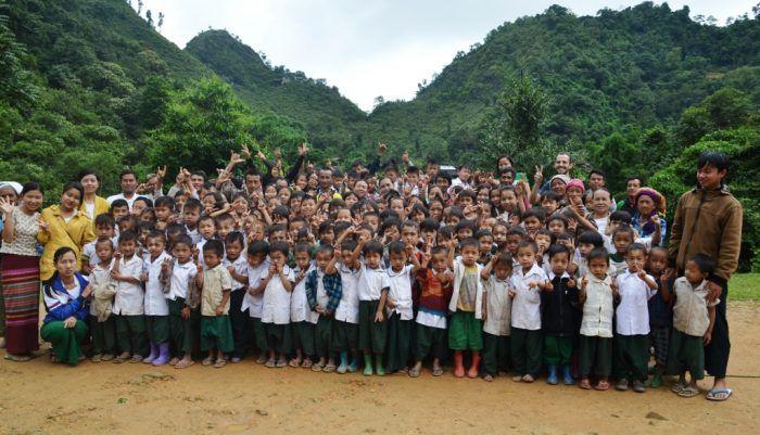 Les écoliers de Sisong ©Enfants du Mékong
