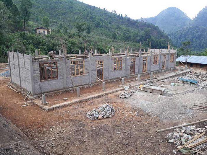 Les travaux commencent à Sisong ! ©Enfants du Mékong