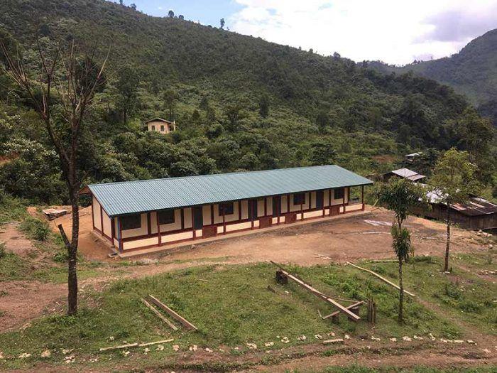 L'école de Sisong est agrandie et va pouvoir accueillir beaucoup plus d'élèves ! ©Aymerick Prost