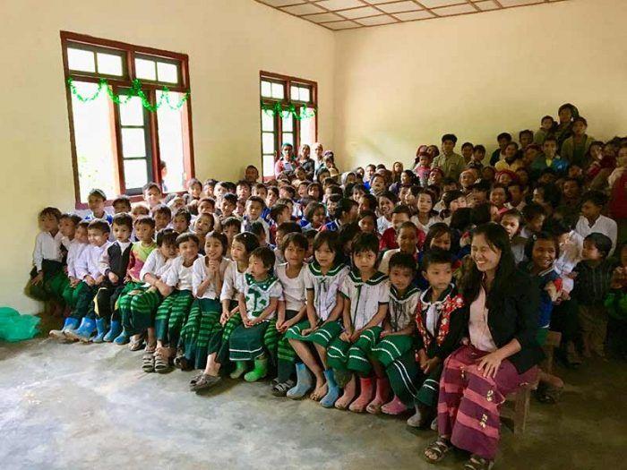 Les élèves de Sisong au complet ! ©Aymerick Prost