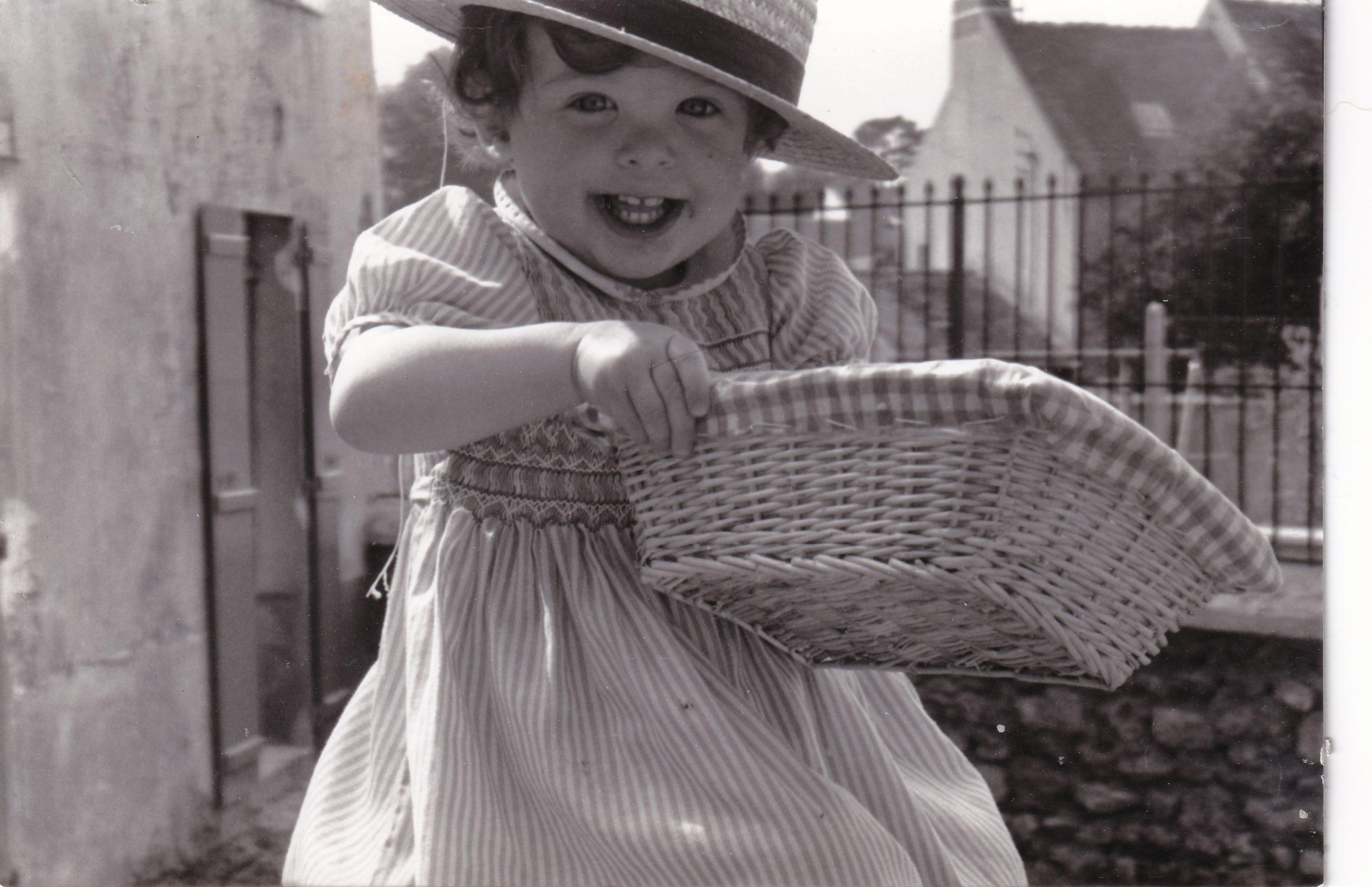 Ombeline lorsqu'elle était petite