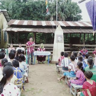 Birmanie Rénovation de l'école de Khwee Tha Mar- Etat Karen - enfants