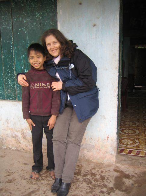 Luong et Yolaine, sa marraine