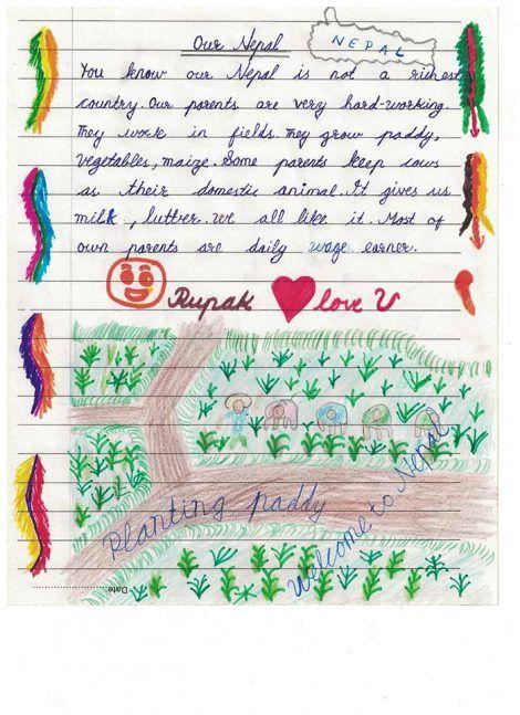 Lettre d'un écolier du Népal