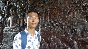 un étudiant cambodgien diplômé l'année dernière et maitenant étudiant