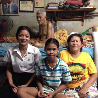 Clémentine en mission en Thaïlande
