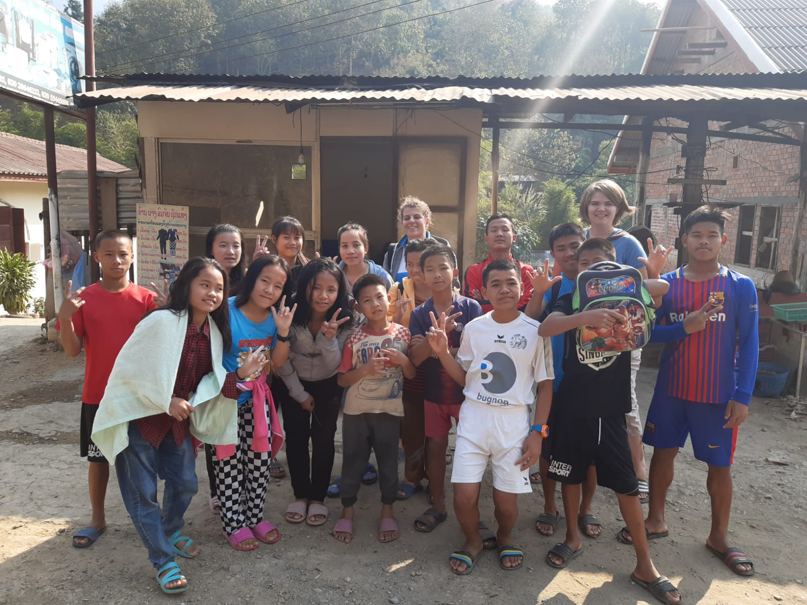 Volontaire Bambou Laos Stéphanie