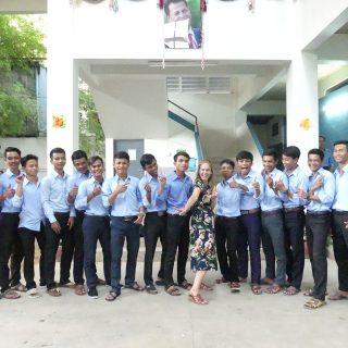 Agathe en mission au Cambodge