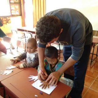 Baptiste volontaire en Thaïlande