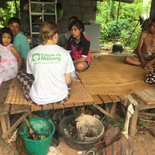 Camille est en mission de volontariat avec Enfants du Mékong en Thaïlande