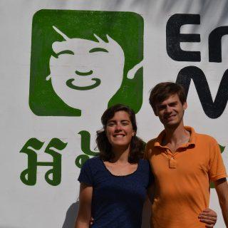 Bruno et Lucille Vautherin, volontaires Bambous au Cambodge en 2014
