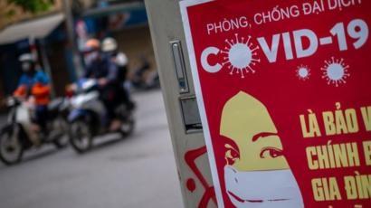 Les affiches du Covid19 dans les rues du Vietnam