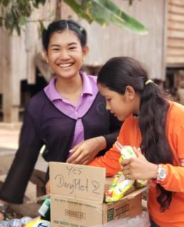 Distributions au Centre de Preah Vihear au Cambodge