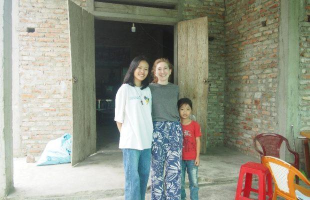 Hermine avec une famille de filleul