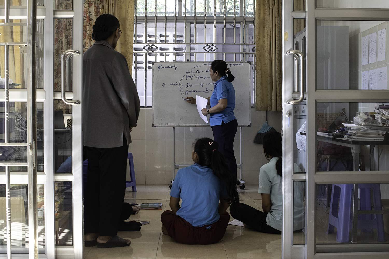 """Formation des intervenant du centre """"Fontaine de Vie"""" en vue des campagnes de prévention contre les violences faites aux femmes ©Antoine Besson"""