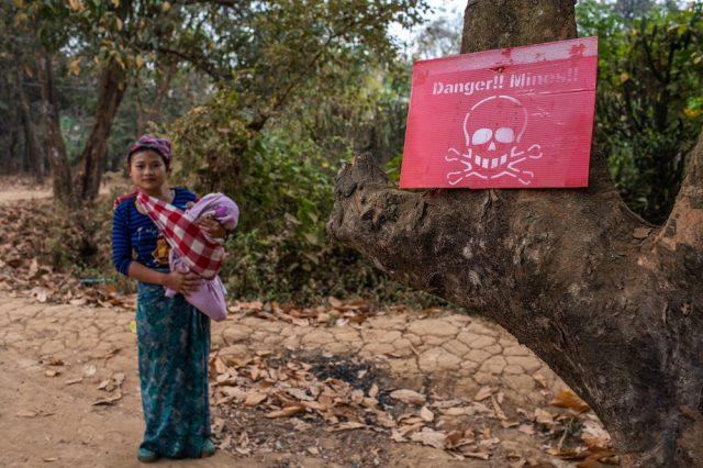 Il reste sur le territoire karen de nombreuses mines antipersonnelles