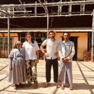 visite de la volontaire Bambou pour voir l'avancée des travaux