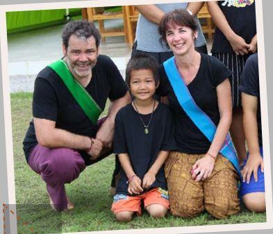 Claudine et Michel, parrains de Chai au Laos