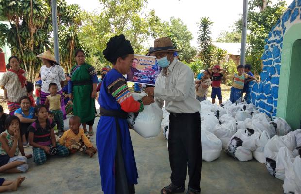 Distribution de nourriture - Etat Shan