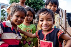 Enfants de la minorité Jaraï