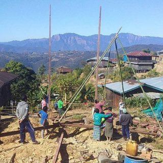 Construction d'infrastructures pour le foyer de Calthawng