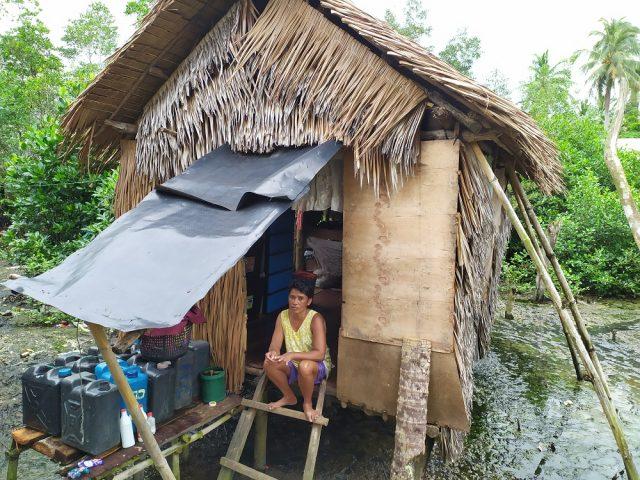 Île de Samar, maison de pêcheur