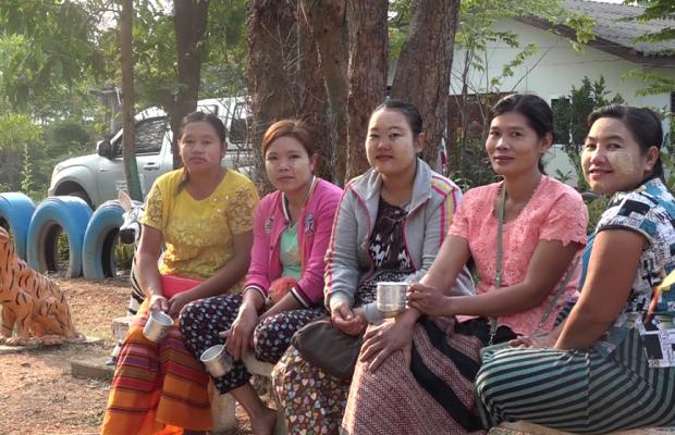 Groupe de femme en Thaïlande