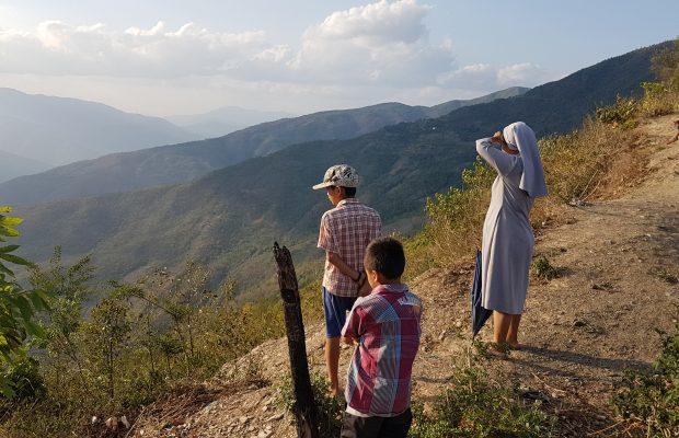 Montagnes Chin en Birmanie