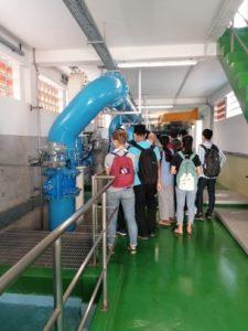 Visite de l'usine de traitement de l'eau Chamcar Mon