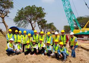 Visite du chantier de la future usine de traitement de l'eau de Bakheng