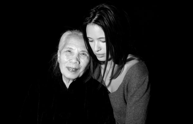 Anne-Solenne Hatte et sa grand-mère