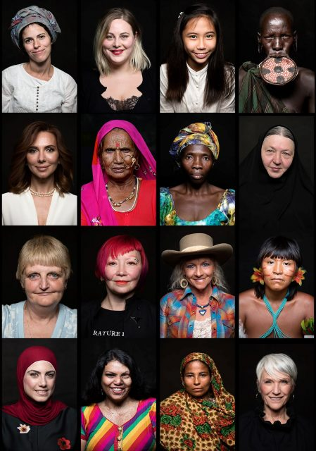 Mosaique de portraits de femmes ©Hope Production