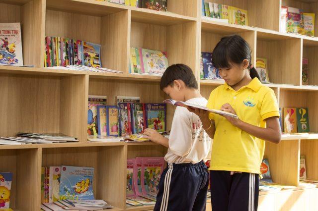 Bibliothèque à la Maison Chance au Vietnam