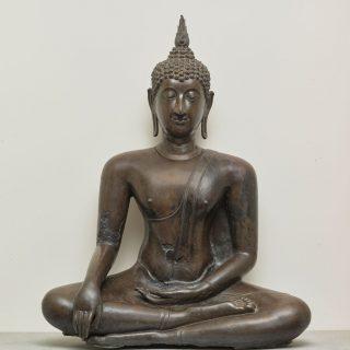 La bhumisparshamudra Geste de la prise de la Terre à témoin et posture assise (virasana)